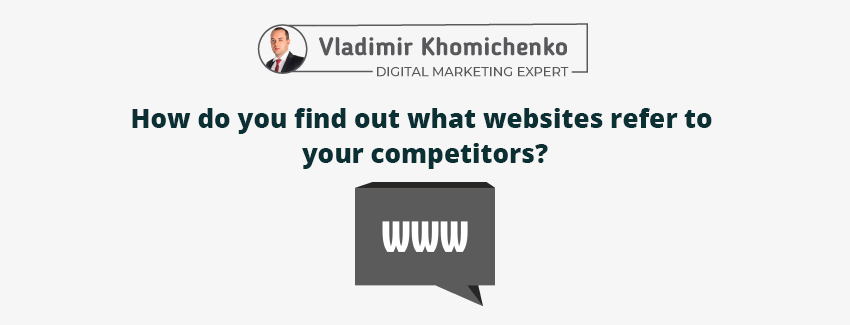 How do you find out what websites refer to your competitors